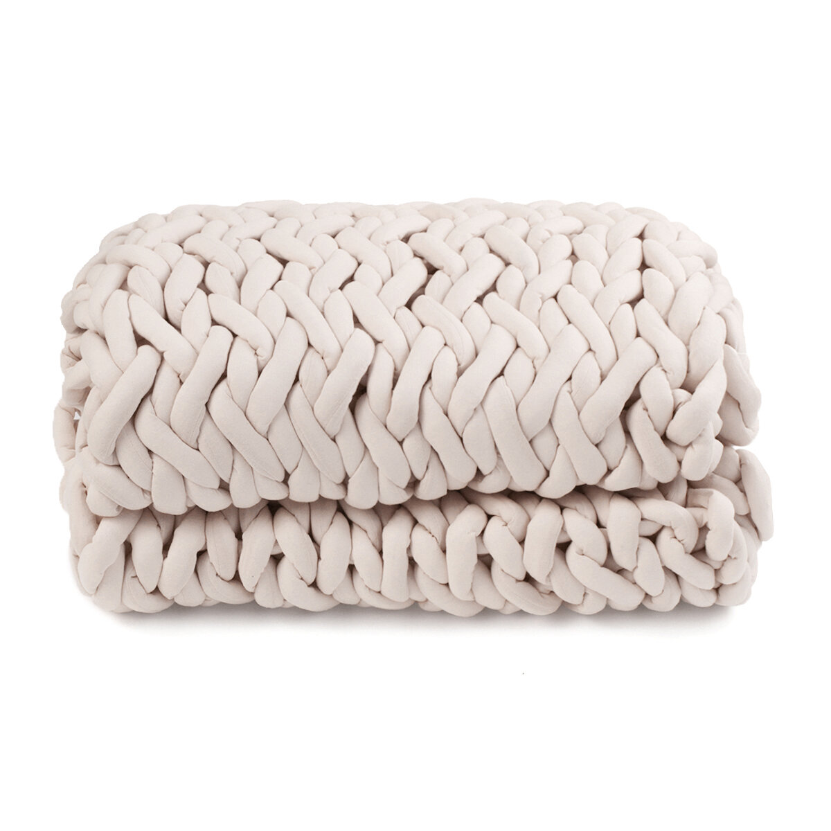 100x120cm Handmade Knitted Blankets Soft Warm Thick Line Cotton Throw Blankets - 2
