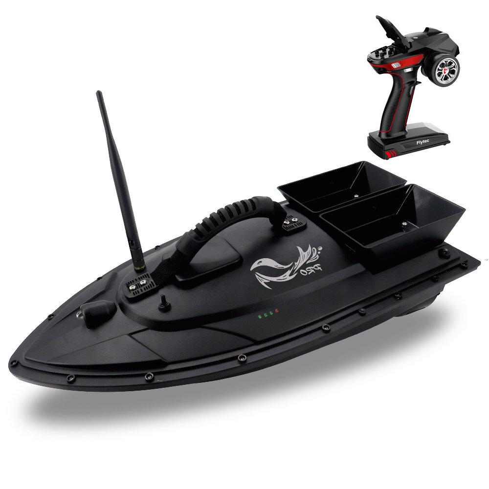 Flytec V500 50cm 낚시 미끼 RC 보트 500M 원격 어류 측정기 5.4km / h 더블 모터 완구