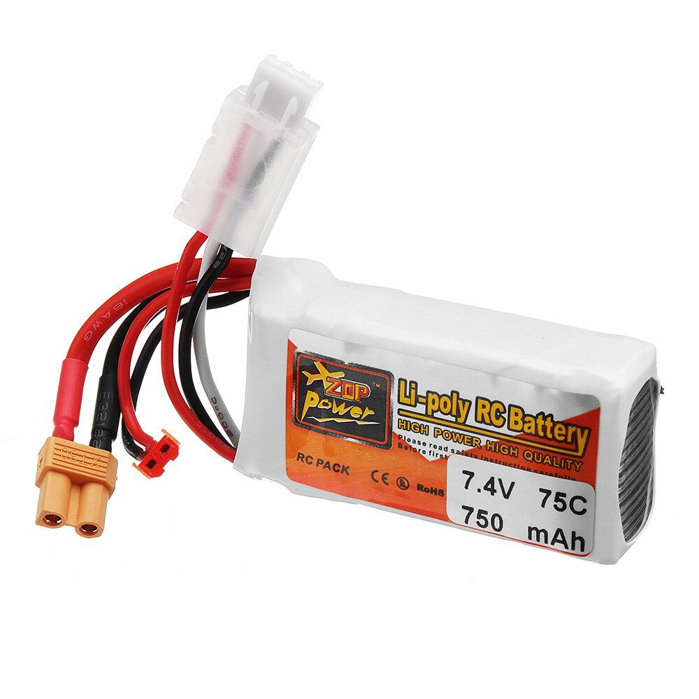 ZOP POWER 7.4V 750mAh 75C 2S Lipo batterij met JST / XT30 stekker - 2