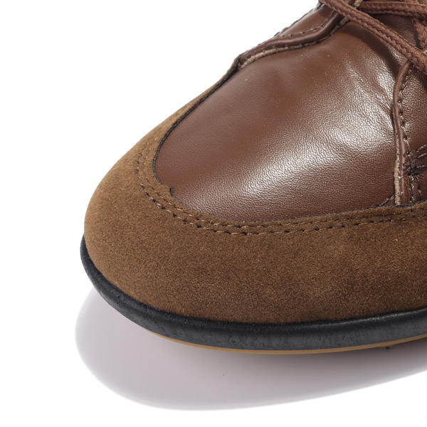 Men Microfiber Leather Hand Stitching Comfy Non Slip Soft Casual Boots - 4