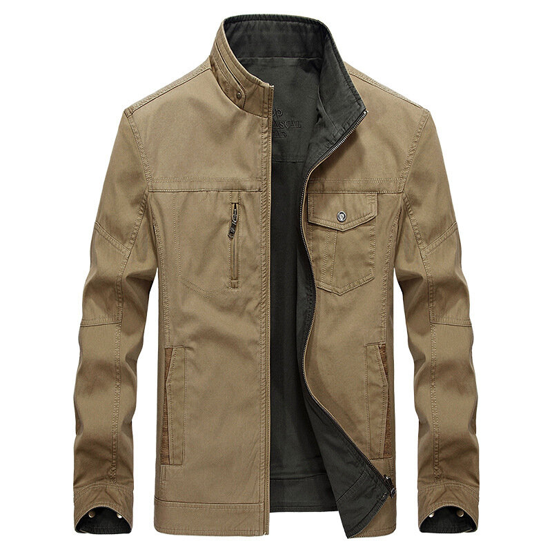 Men's Explosion Models Stand Collar New Jacket Business Yout - 2