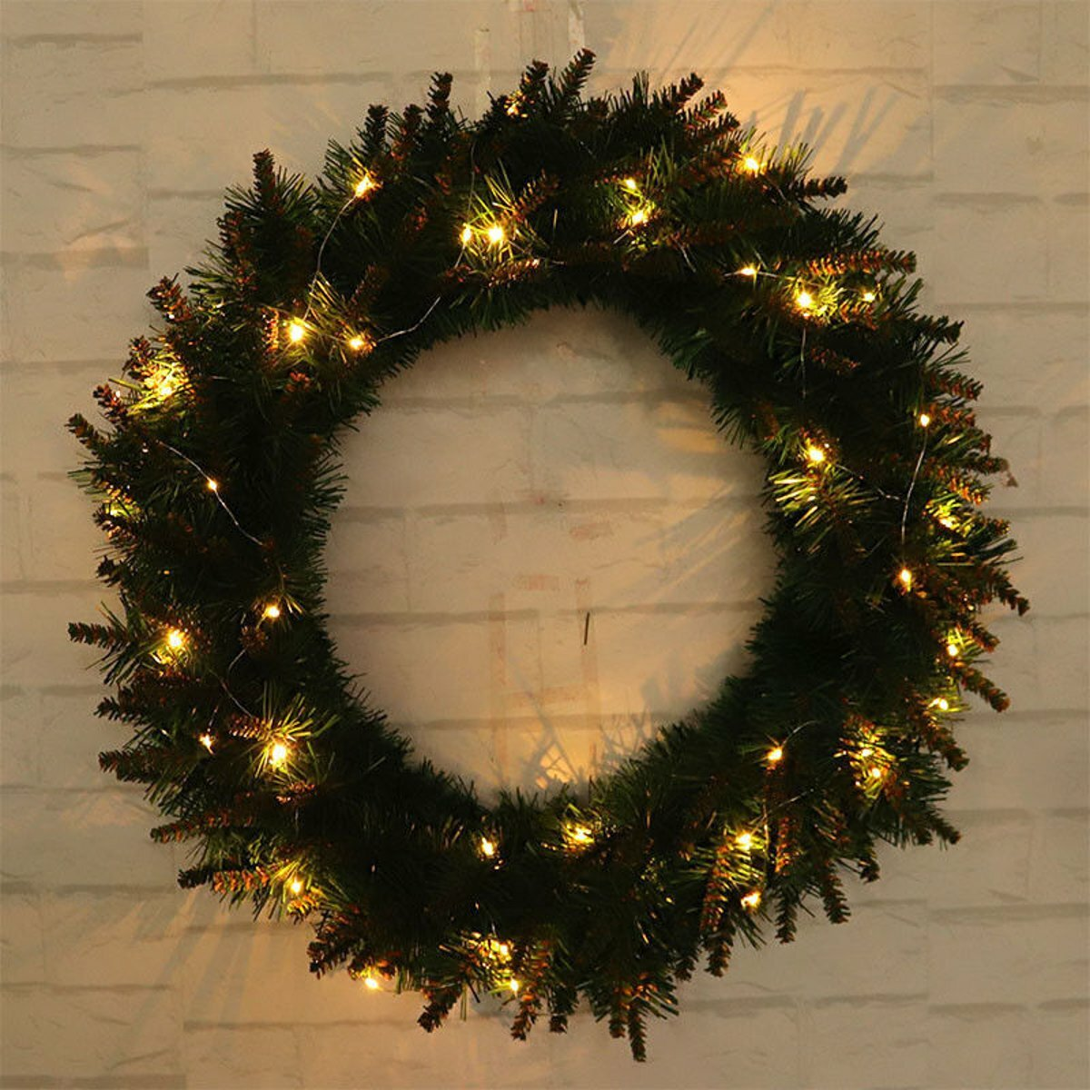 Christmas Wall Hanging Decorations.Led Light Christmas Wreath Tree Door Wall Hanging Party Garland Decorations