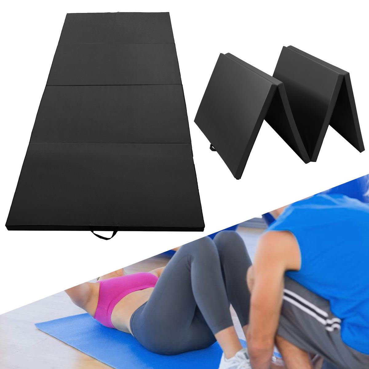 118x47 2x1 97inch Gymnastics Mat Home Gym Folding Panel Sports Yoga Exercise Tumbling Fitness Pad