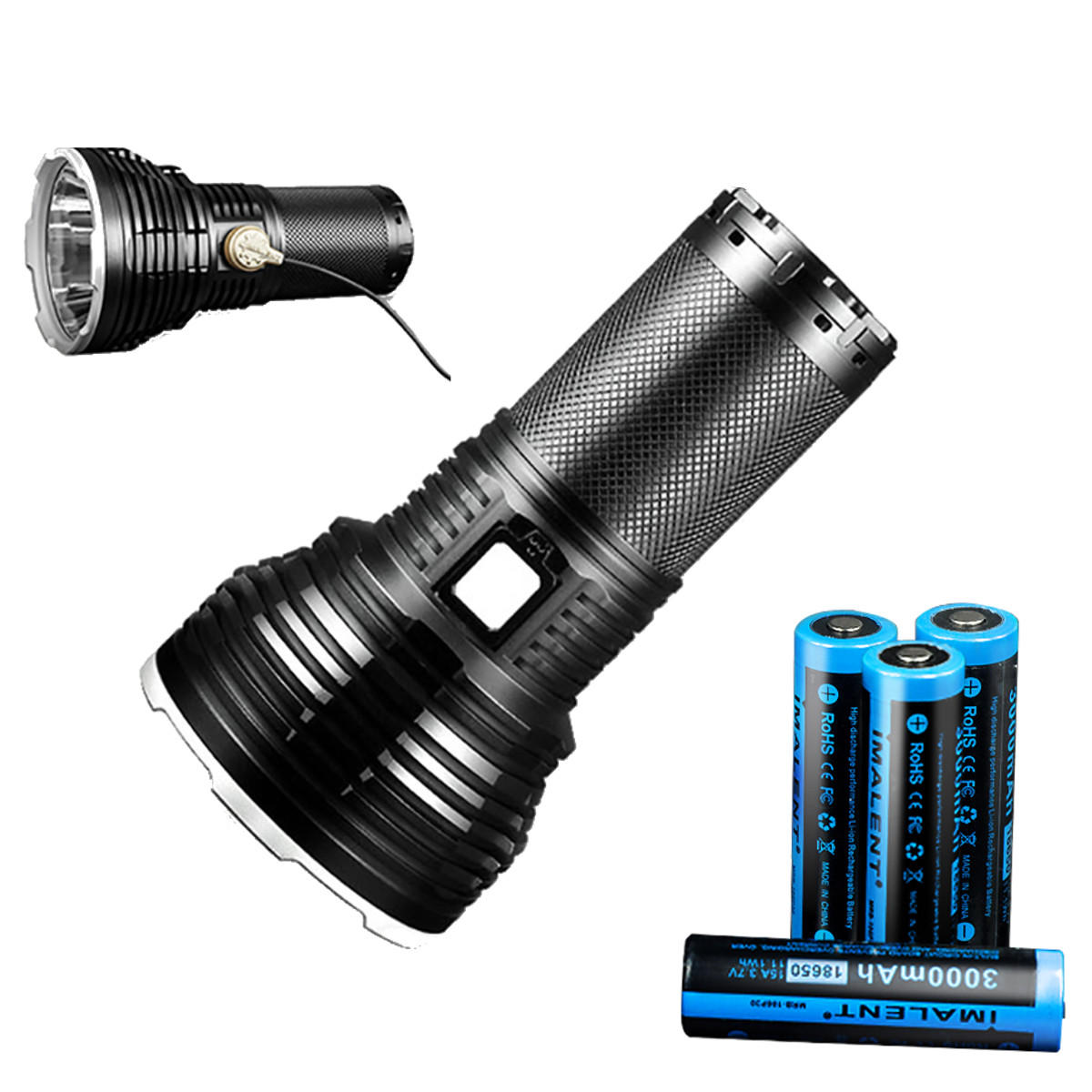 IMALENT RT70 KIT XHP70.2 5500LM 903m Super Bright Long-rang USB Magnetic Charging Intelligent Temperature Control LED Flashlight Suit wIth 4x 18650