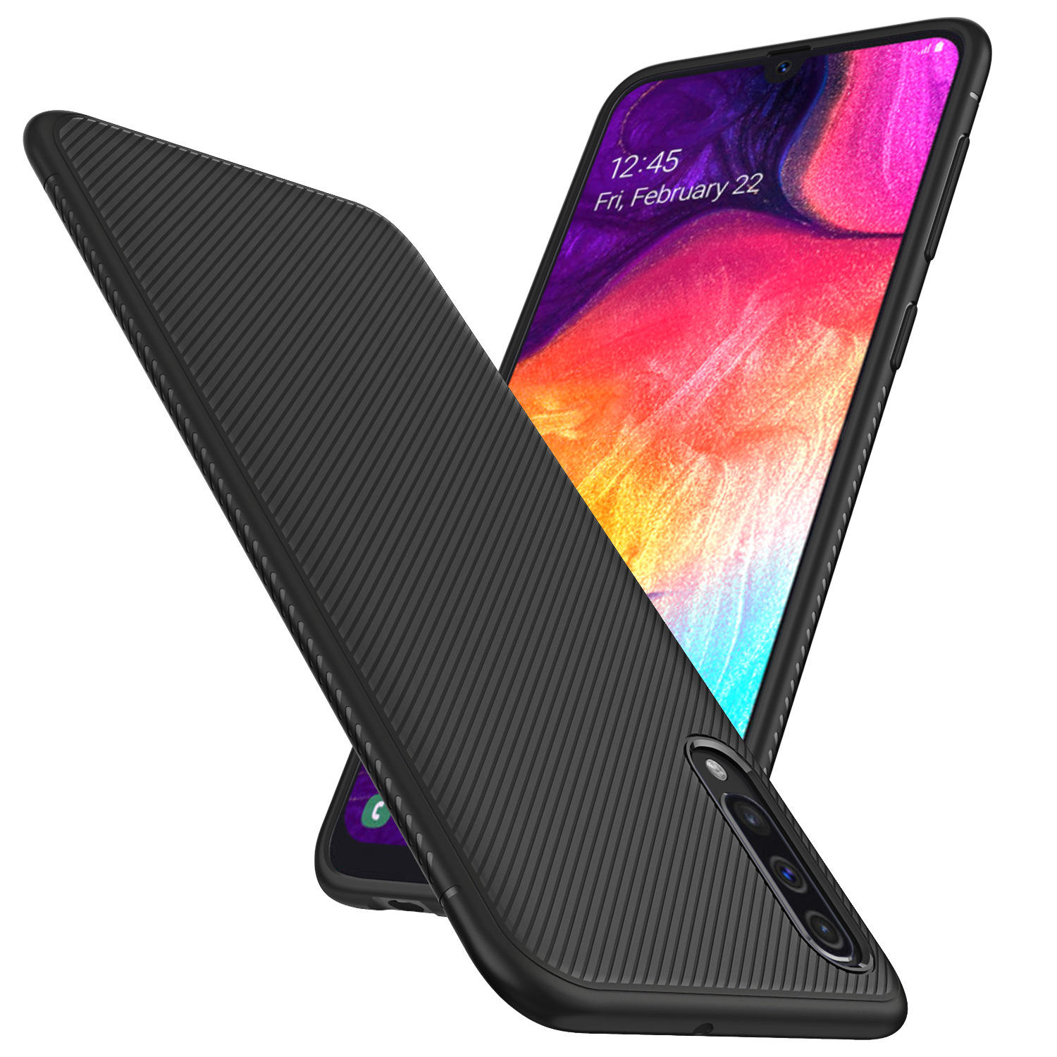 Bakeey Carbon Fiber Protective Case For Samsung Galaxy A50 2019 Shockproof Soft TPU Back Cover