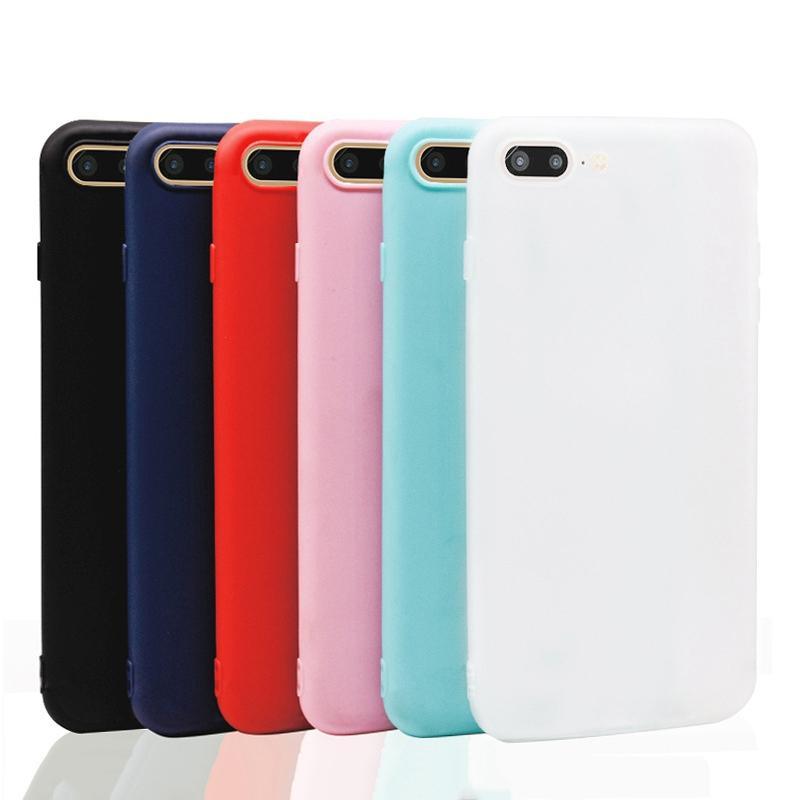 Bakeey Candy Color Matte Soft Silikon TPU Veske til iPhone 7Plus/8Plus