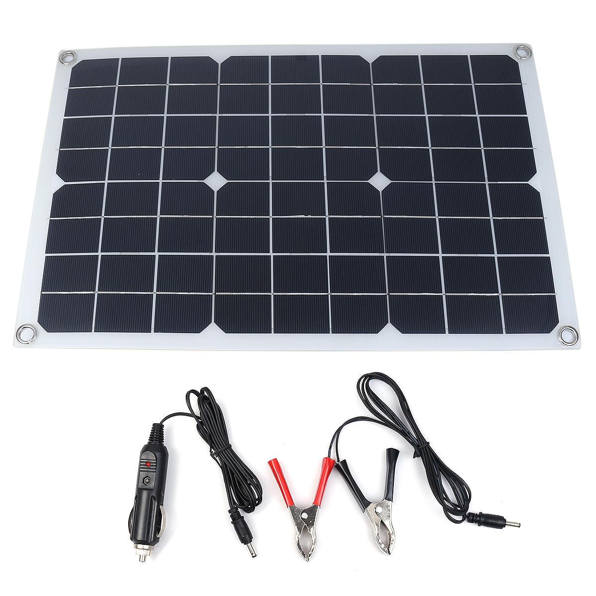 20W 18/5V 42 * 28 см DC Монокристаллический Солнечная Панель с DC5521 Батарея Клип