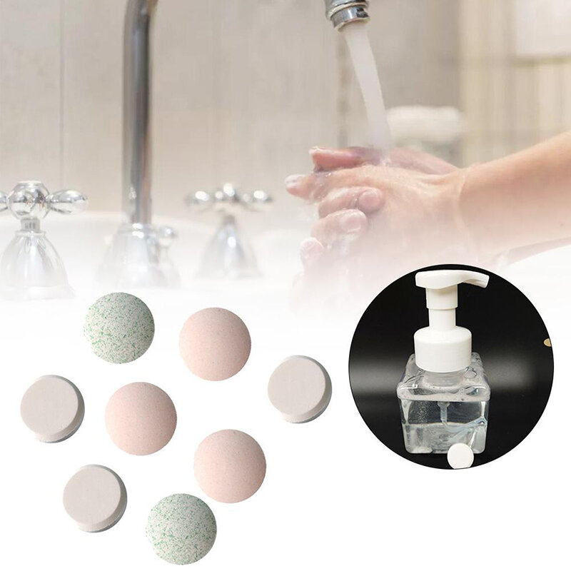 10PCS Water Melt Effervescent Tablet Hand Sanitizer With Rich Foam Super Clean Power Strong Disinfect Aloe Fragrance Washing FoamHand Sanitizer For Skin Cleaning