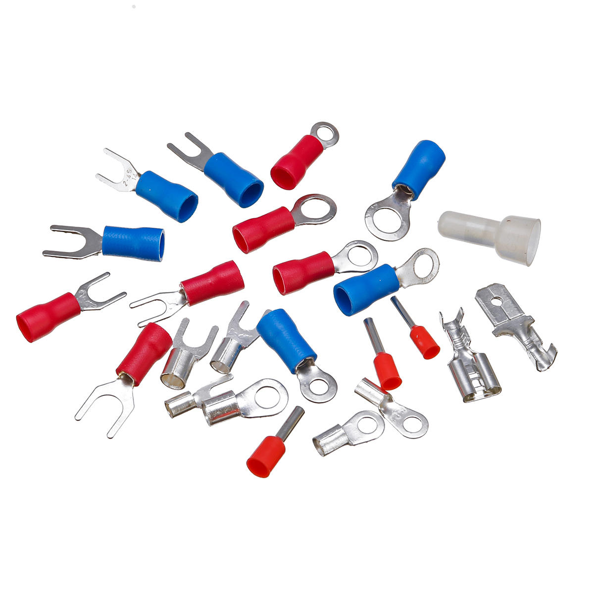 Excellway® EC04 1200pcs Assorted Crimp Terminals Set Insulated Electrical Wiring Connectors - 6