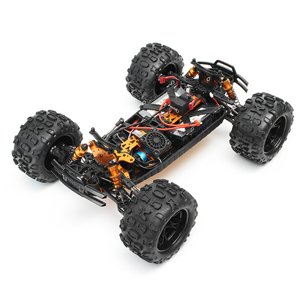 MN90 1/12 2.4G 4WD Rc Car W/ Front LED Light 2 Body Shell Roof Rack Crawler Off-Road Truck RTR Toy - 3