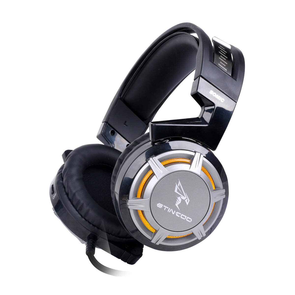 Somic G926 Gaming Headset USB Jack 7.1 Channel 40mm Sound Unit LED Light Lightweight Gaming Headphone with Noise-canceli
