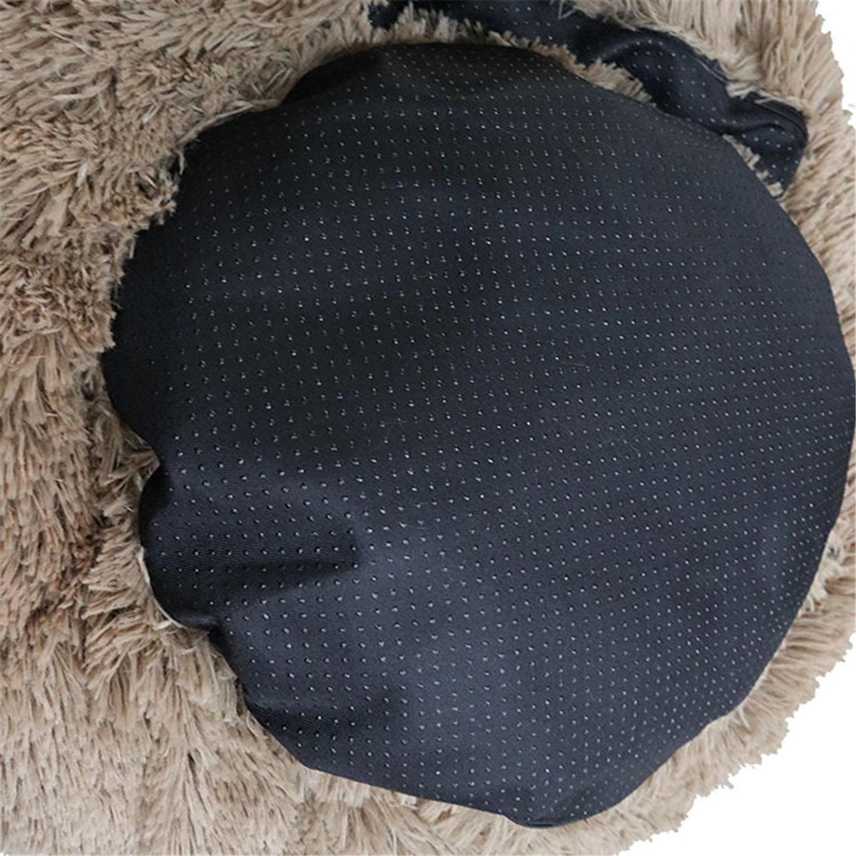 4サイズ犬猫ラウンドベッドスリーピングベッドぬいぐるみペットベッド犬小屋睡眠クッション子犬