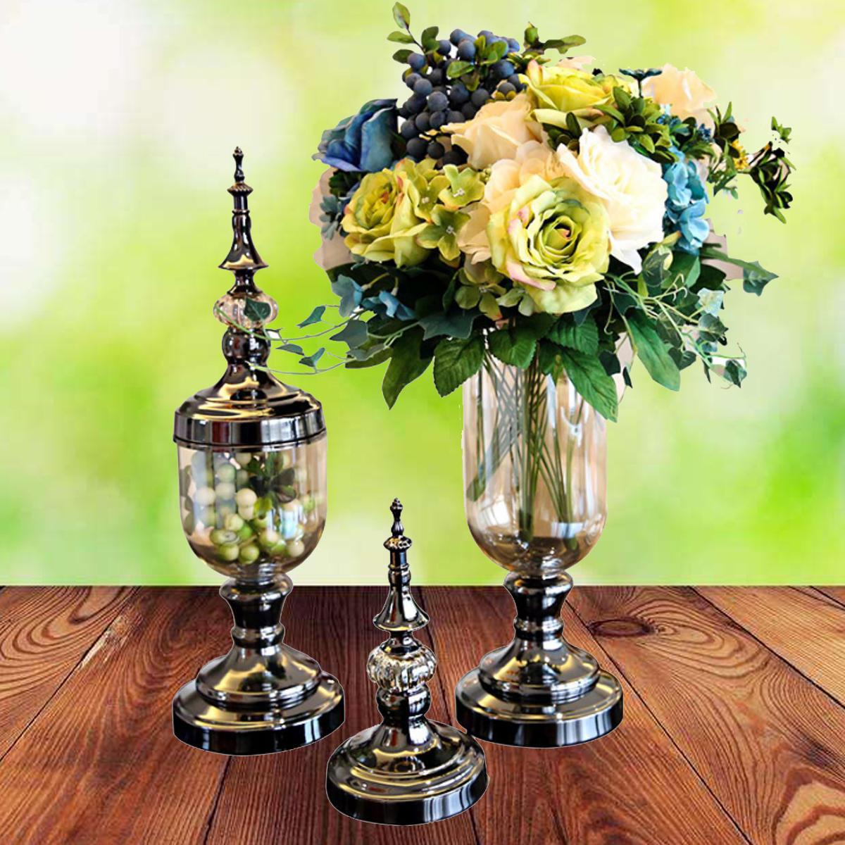 Retro Flower Stand Chic Indoor Garden Metal Plant Holder Display Planter Vase - 3