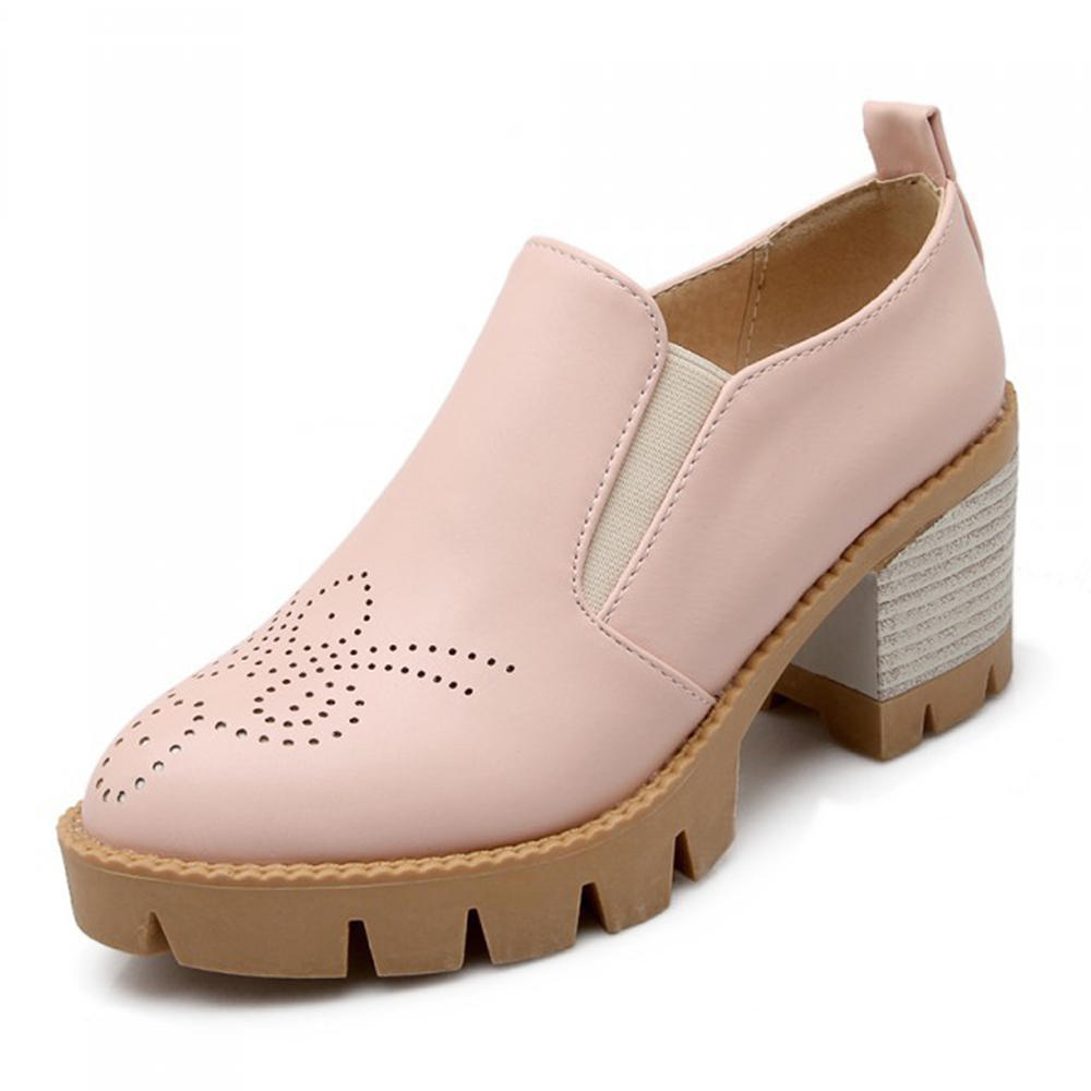 Women Large Size Hollow Out Comfy Pointed Toe Spring Flats - 1
