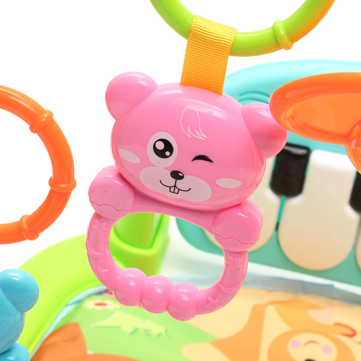 Foot Play Piano Musical Lullaby Baby Activity Playmat Gym Toy Soft Baby Play Mat - 12