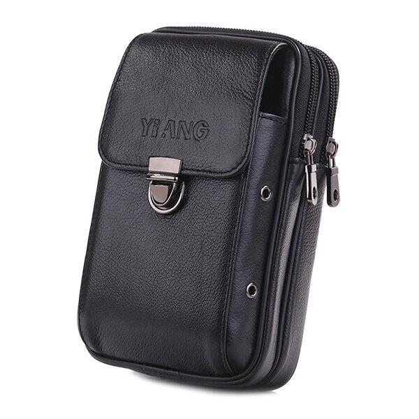 Men Fashion Businesss Phone Bag Clutches Bag Zipper Long Wallet Bag - 7