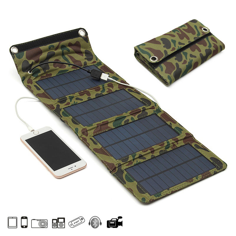 IPRee® 7W 5.5V Portable Folding Solar Panel USB Charger Mobile Power Source For Cell Phone GPS Camera - 1