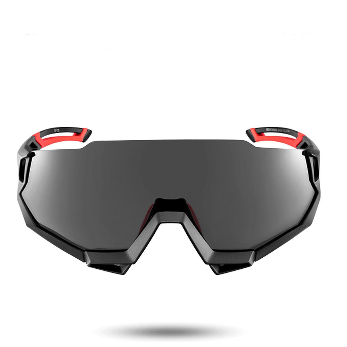 Black RockBros Polarized Cycling Glasses Half Frame Sports Sunglasses Goggles