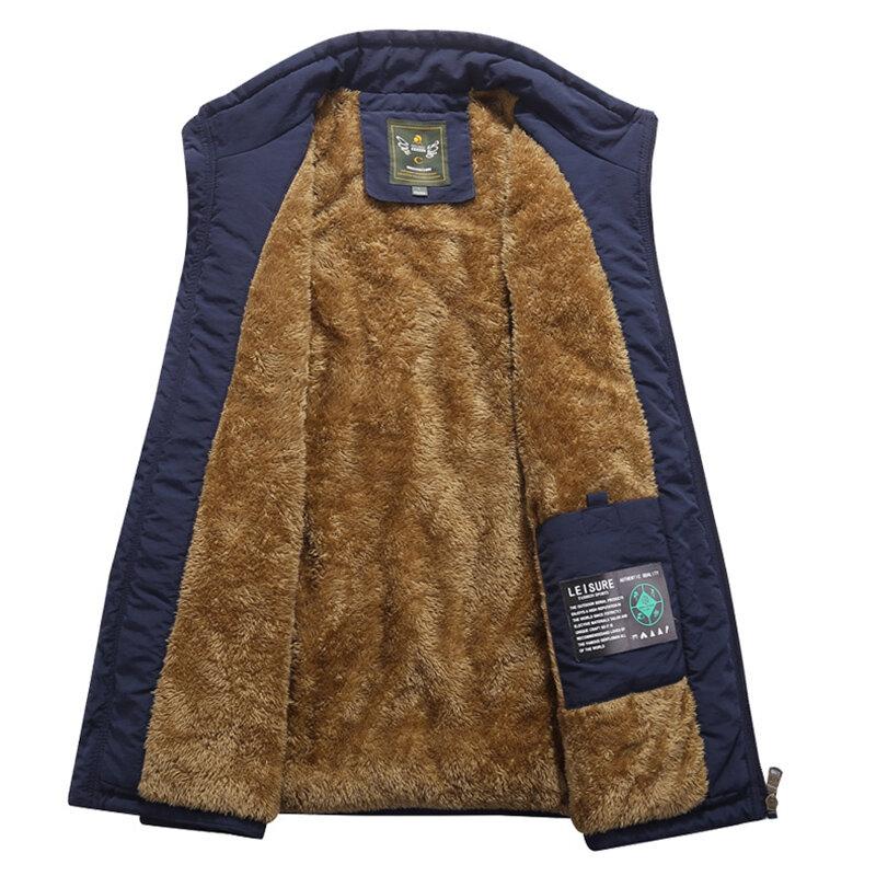 Thick Warm Sleeveless M-4XL Inluslated Padded Men Vest - 5