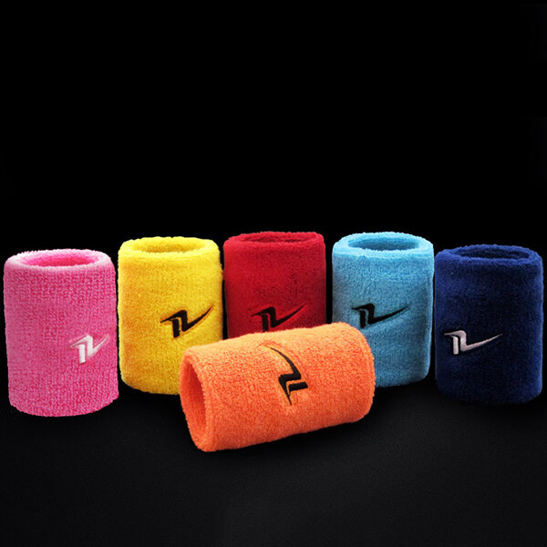 Men Women Sports Cotton Sweat Wrist Support Ball Game Fitness Breathable Wrist Protector - 7