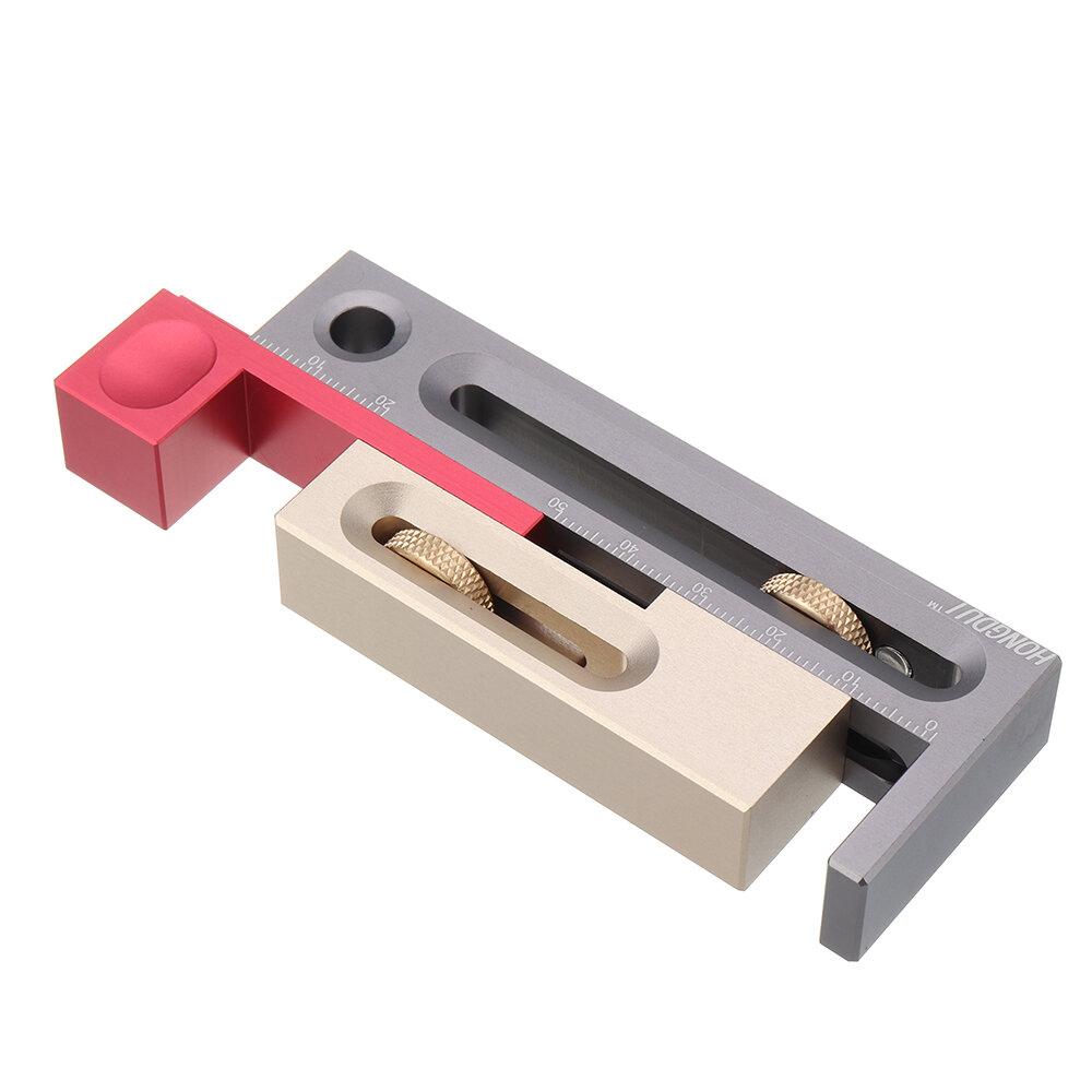 HONGDUI Настольная пила, регулятор паза, врезной и шип Инструмент Деревообрабатывающий подвижный измерительный блок