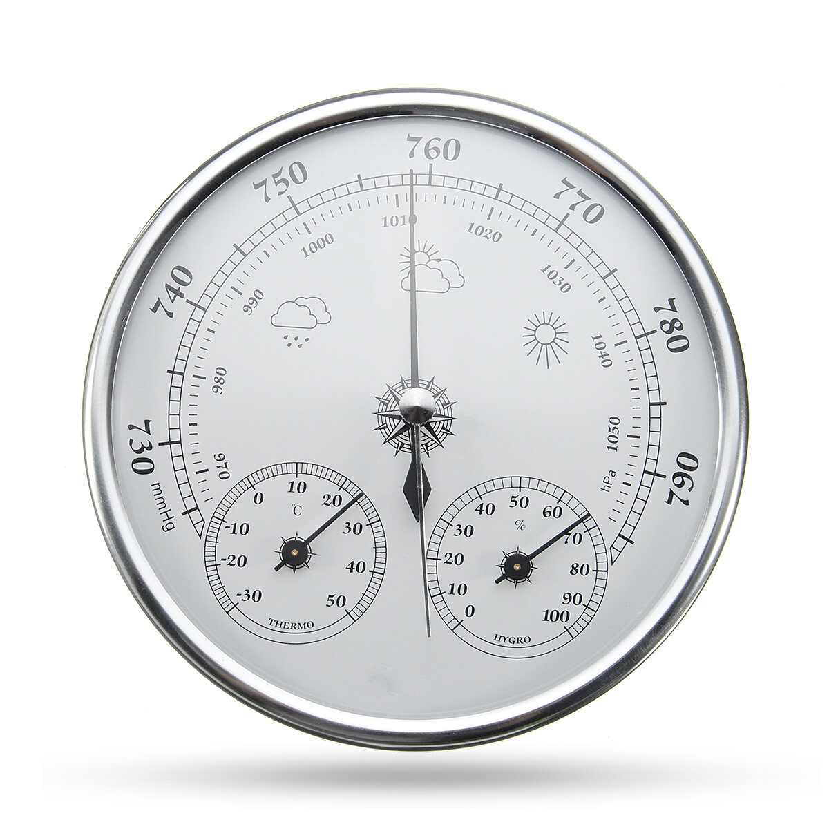 Wall Hanging Weather Forecast Thermometer Hygrometer Air Pressure Meter-30~+50℃ 0~100%Rh 960~1060hPa