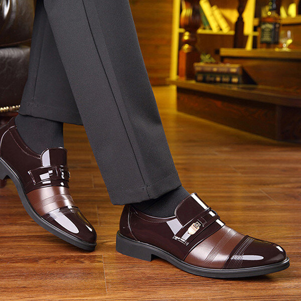 Men Comfortable Leather Business Lace Up Formal Shoes - 11