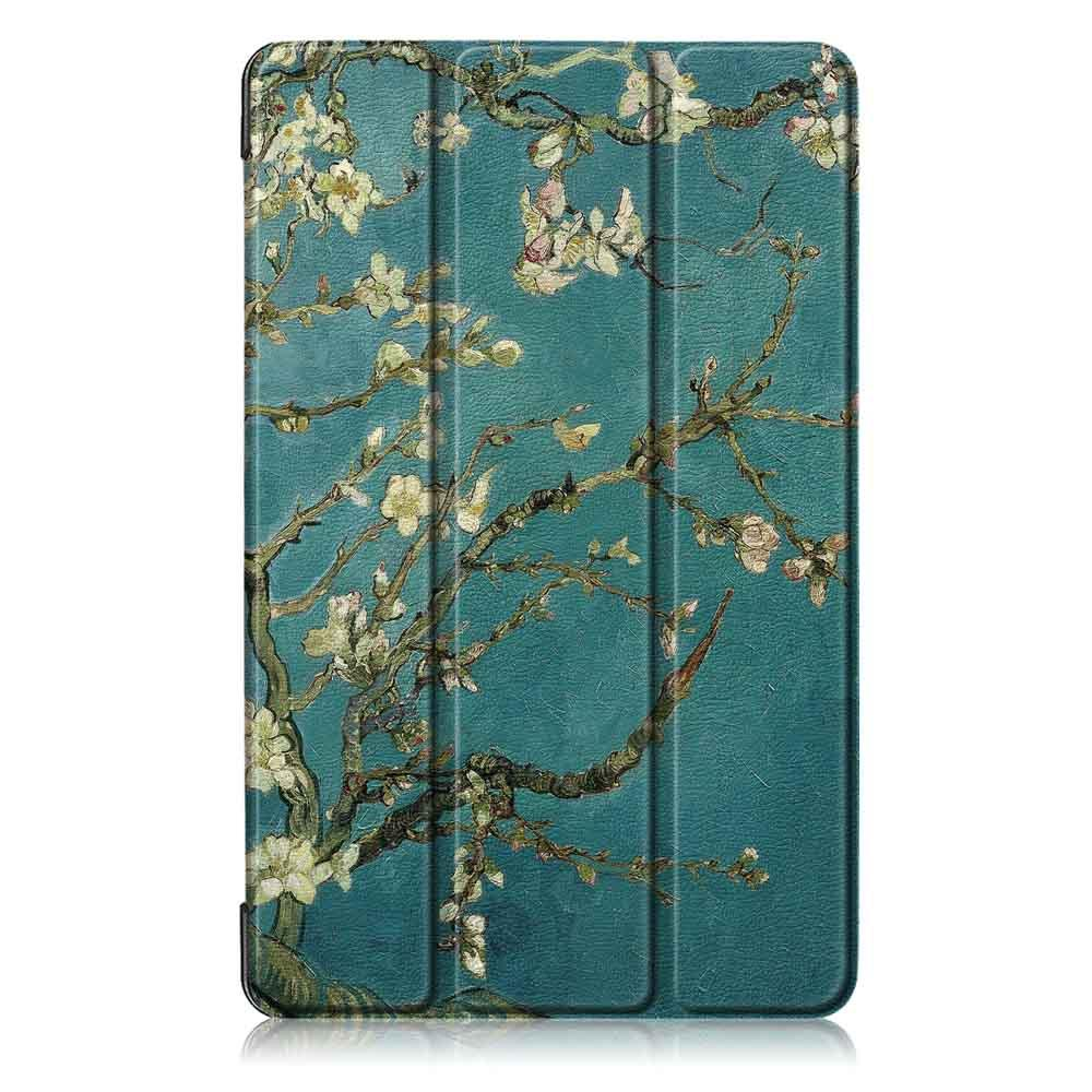 Tri Fold Pringting Tablet Case Cover for Samsung Galaxy Tab A 8.0 2019 SM P200 P205 Tablet Apricot Blossom - 1