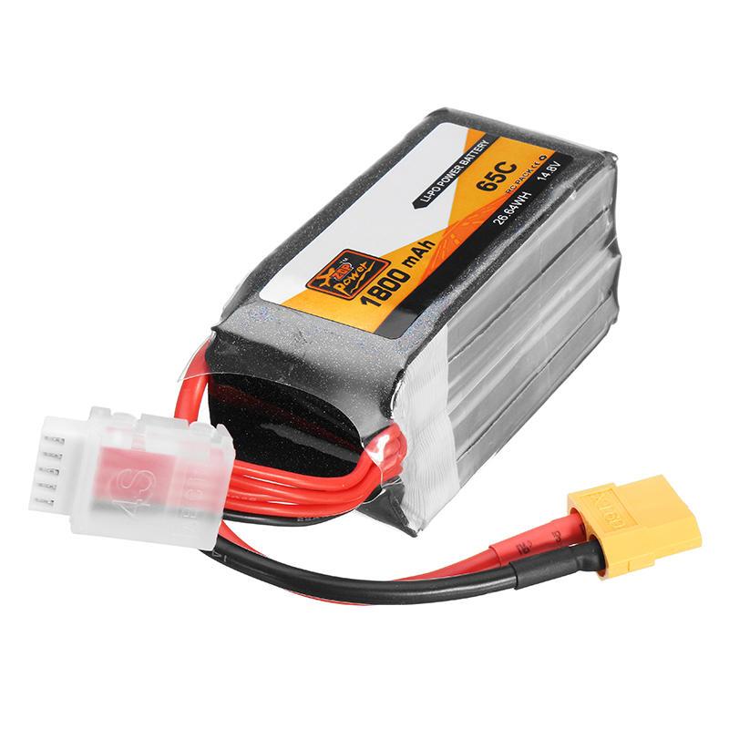 4 Stks ZOP Power 14.8 V 1800 mAh 65C 4S Lipo Batterij XT60 Plug Voor PFV Racing Drone - 6