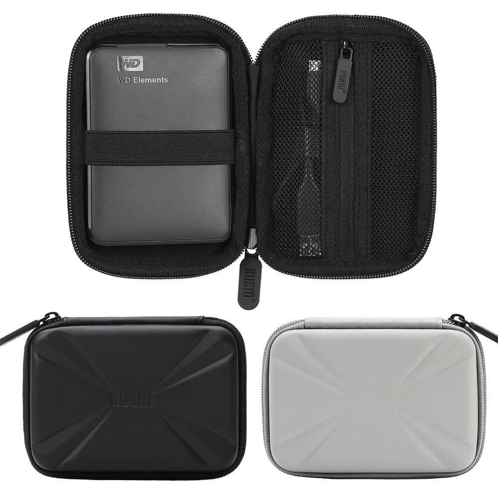 Custodia per il trasporto di apparecchiature elettroniche BUBM Borsa Custodia di protezione anti-urto per il trasporto di bagagli per 2.5 Pollici Disco rigido per HDD portatile Cavo di azionamento per USB Flash esterno