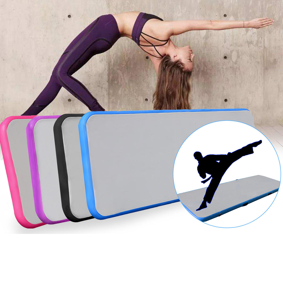 118x19x3.93inch Inflatable Air Track Tumbling Gymnastics Practice Training Pad Gym Mat