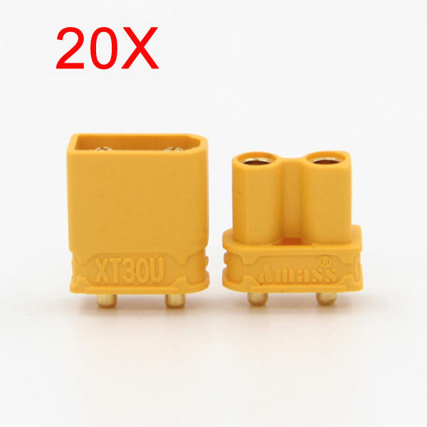 20X Amass XT30UPB XT30 UPB Plug 2mm Male Female Bullet Connectors Plugs For RC Drone Airplane Battery фото