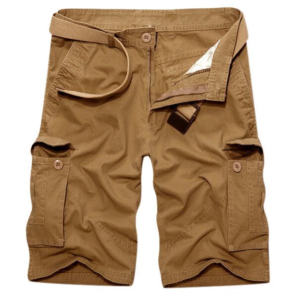 Outdoor Multi-pocket Cotton Cargo Shorts - 11