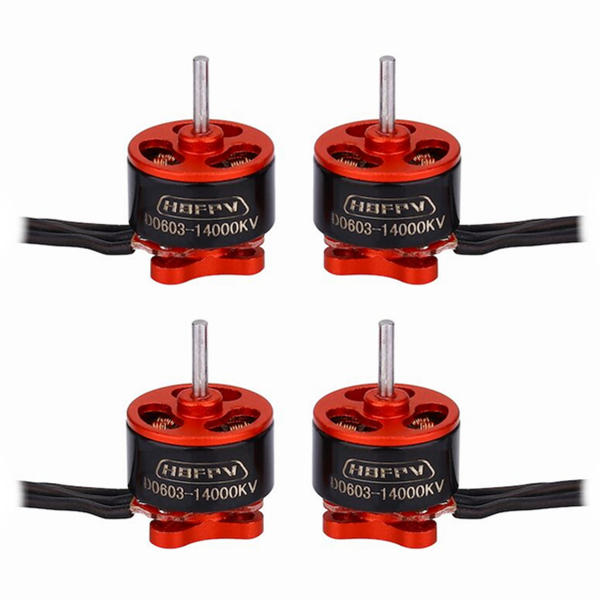 4X HBFPV D0603 0603 Micro Brushless Motor 1-2S 14000KV For RC Drone FPV Racing Multi Rotor