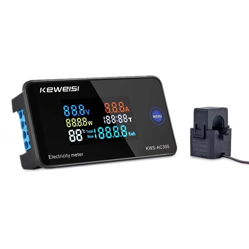 Banggood coupon: KEWEISI AC 50~300V 10A/100A Digital Electricity Meter Voltmeter Ammeter With CT Power Current Voltage Temperature Measur