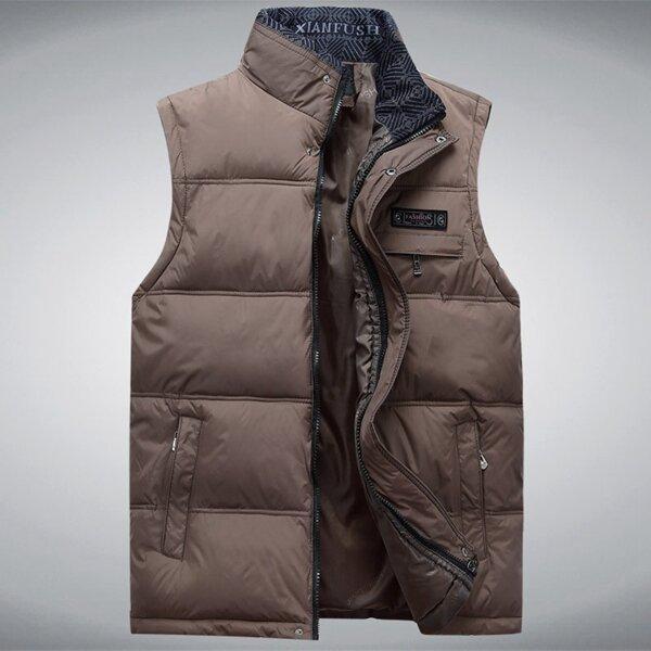 Mens Mutil Pockets Outdoor Travel Cotton Vest Plus Size - 4