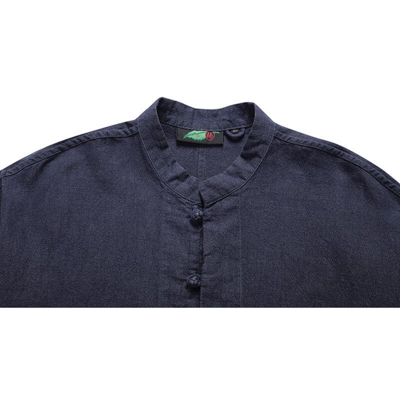 Mens Fashion Geometric Printed Breathable Casual Shirts - 9