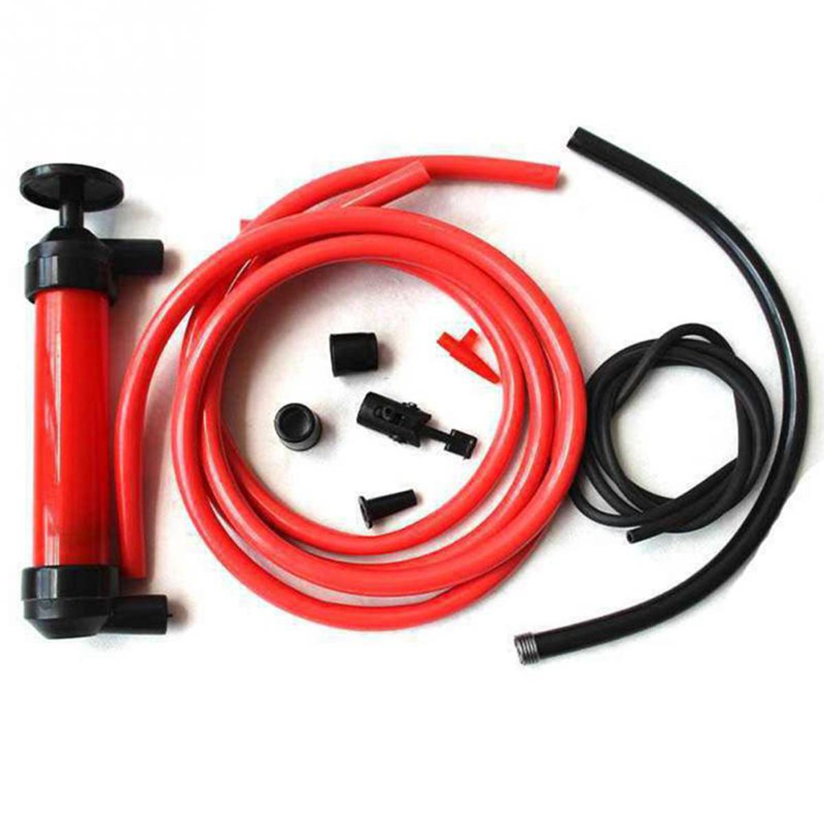 Portable Manual Sucker Siphon Pump Transfer Oil Liquid Hand Air Pump Car