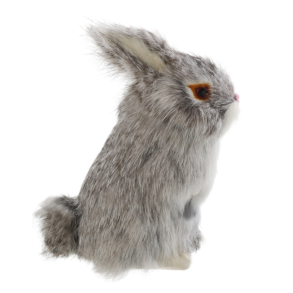 Gray/Yellow/Brown/White Rabbits Handmade Easter Bunnies Home Decorations Desktop Ornament - 6