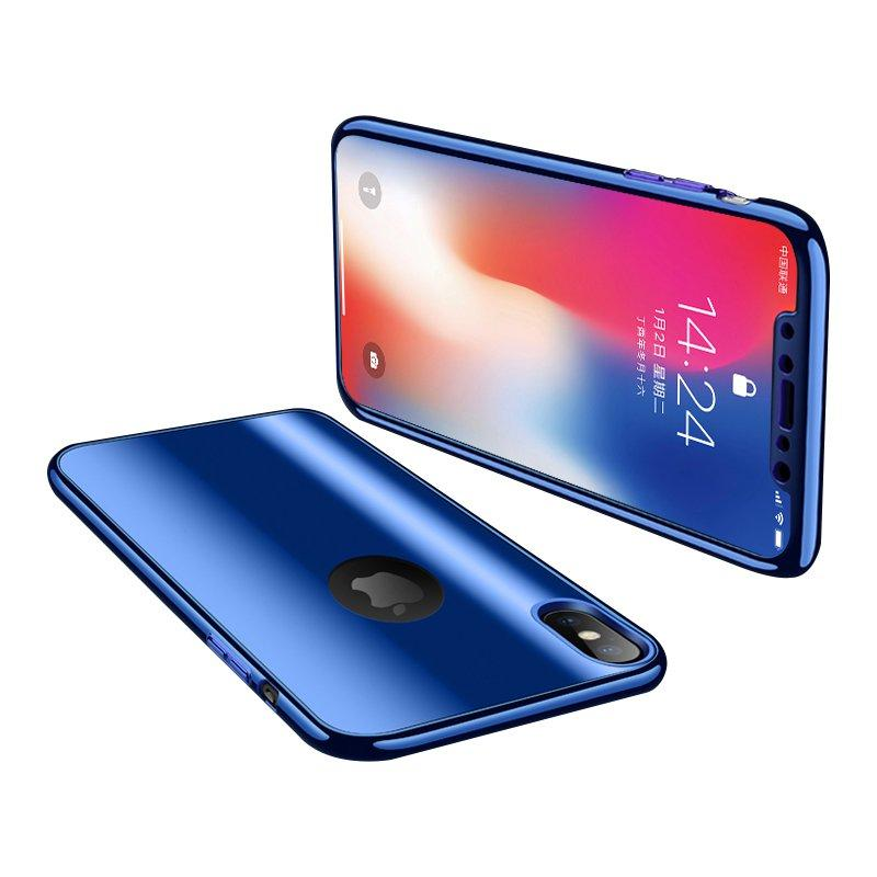 Bakeey Plating Full Body Protective Case Med Screen Film For iPhone X