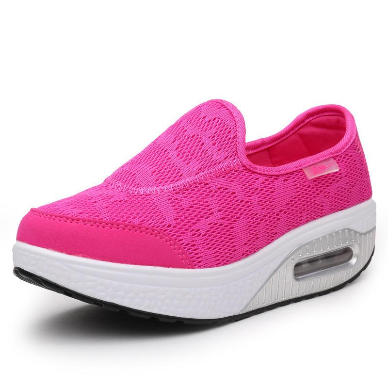 Women Comfortable Mesh Breathable Slip Resistant Sneakers - 3