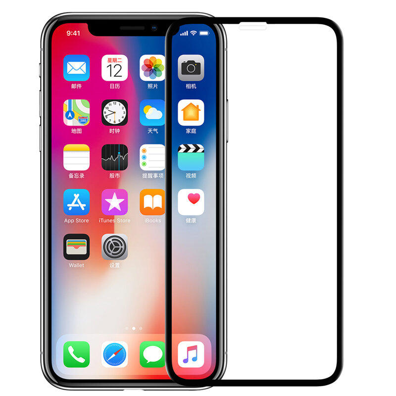 Nillkin 3D buet kant Soft ABS & herdet glass skjermbeskytter for iPhone XS Max / iPhone 11 Pro Max