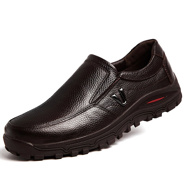 Men Casual Soft Comfortable Leather Oxfords Business Shoes