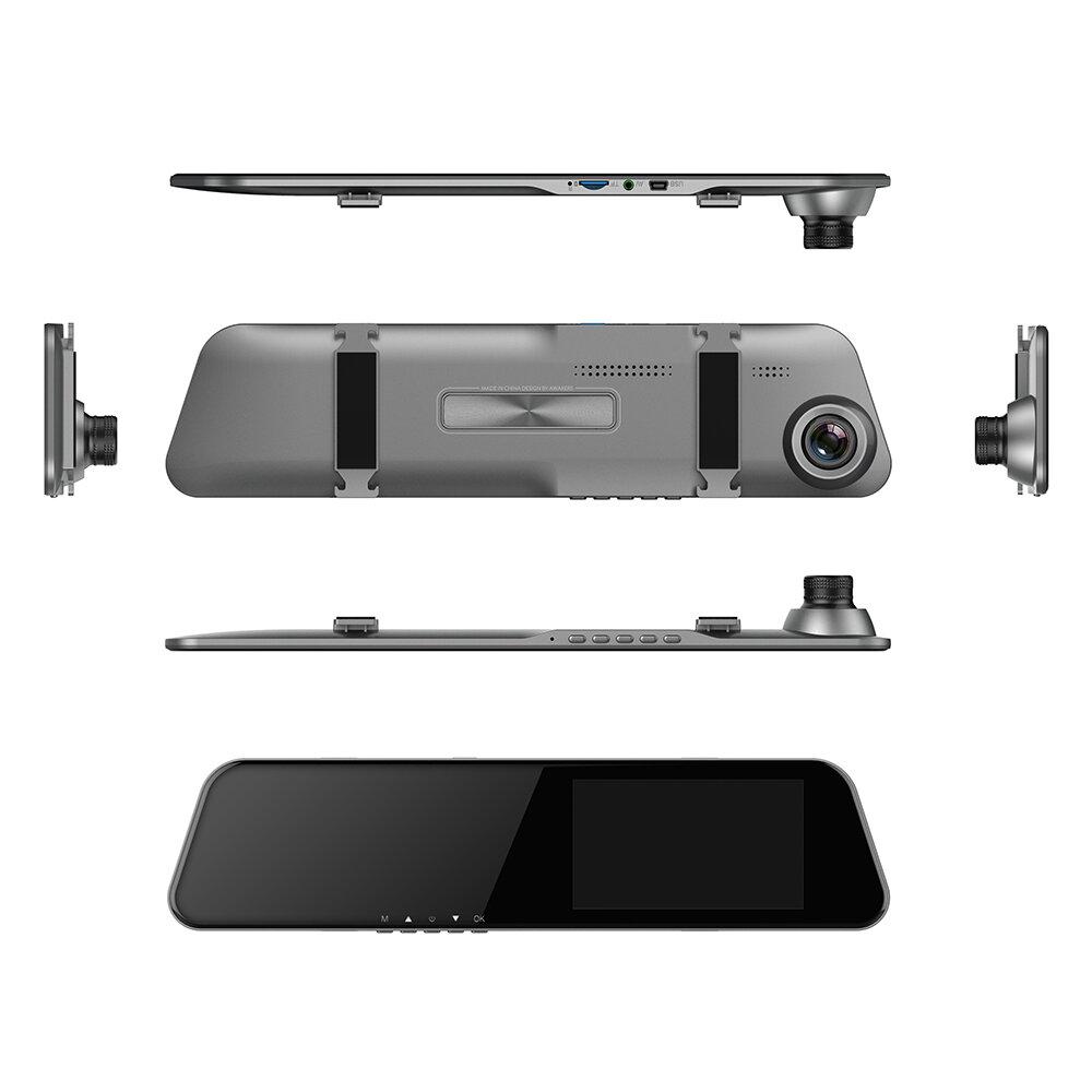 Karylon T8034.5インチ2.5Dタッチスクリーンデュアルレンズダッシュカム1080PフルHD車DVR170度ダッシュカムビデオレコーダー