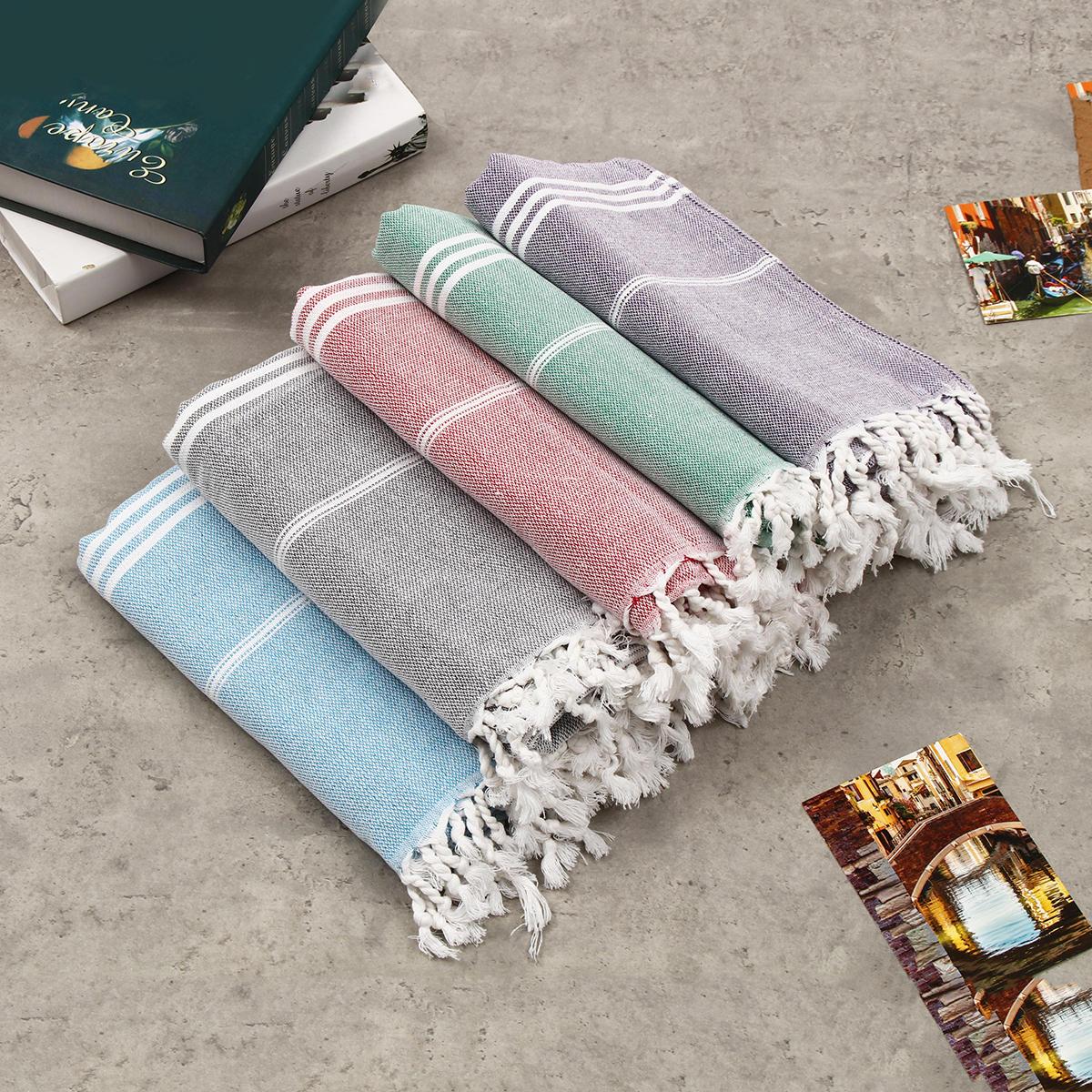 100x180cmAsciugamanodabagnoincotone a strisce con asciugamano e asciugamano