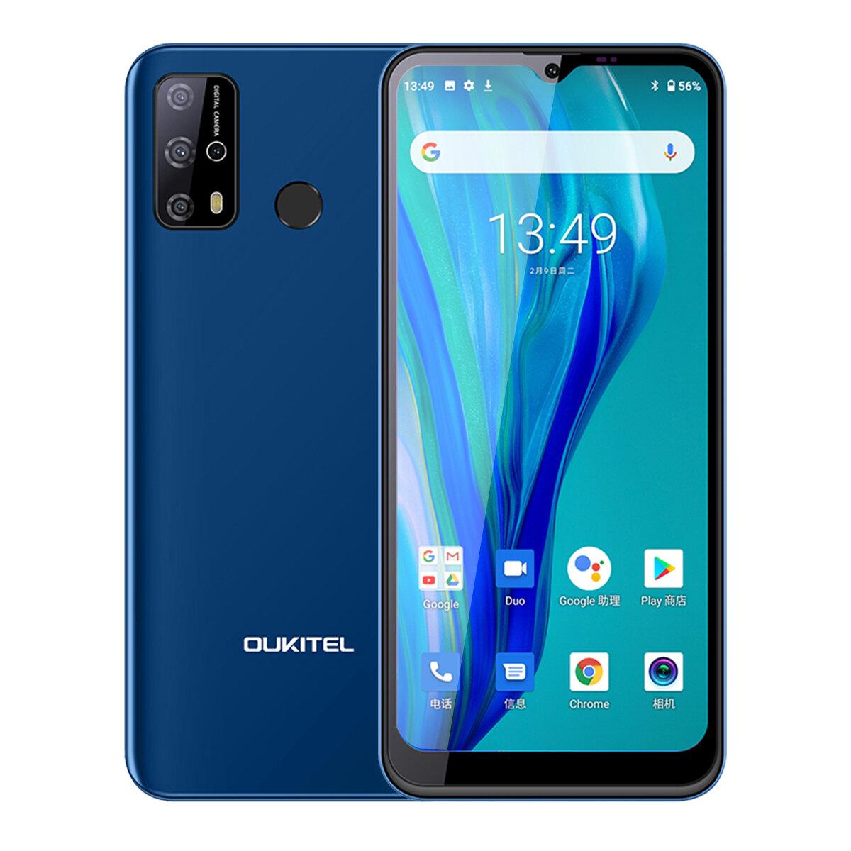 OUKITEL C23 Pro Global Version 5000mAh 4GB 64GB MT6762V6.53インチAndroid1013MPクアッドリアカメラ4Gスマートフォン