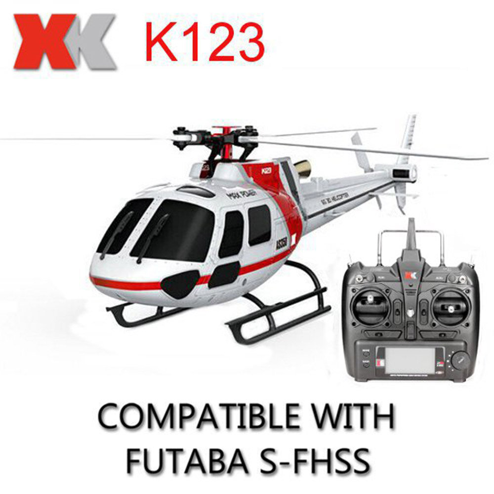 OMPHOBBY M2 V2 6CH 3D Flybarless Dual Brushless Motor Direct-Drive RC Helicopter BNF with Open Flight Controller - 3