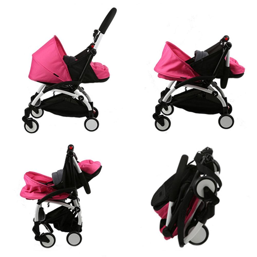 Folding Baby Stroller Sleeping Basket Infant Carriage Pushchair Sleep Pad Travel Car Stroller - 2