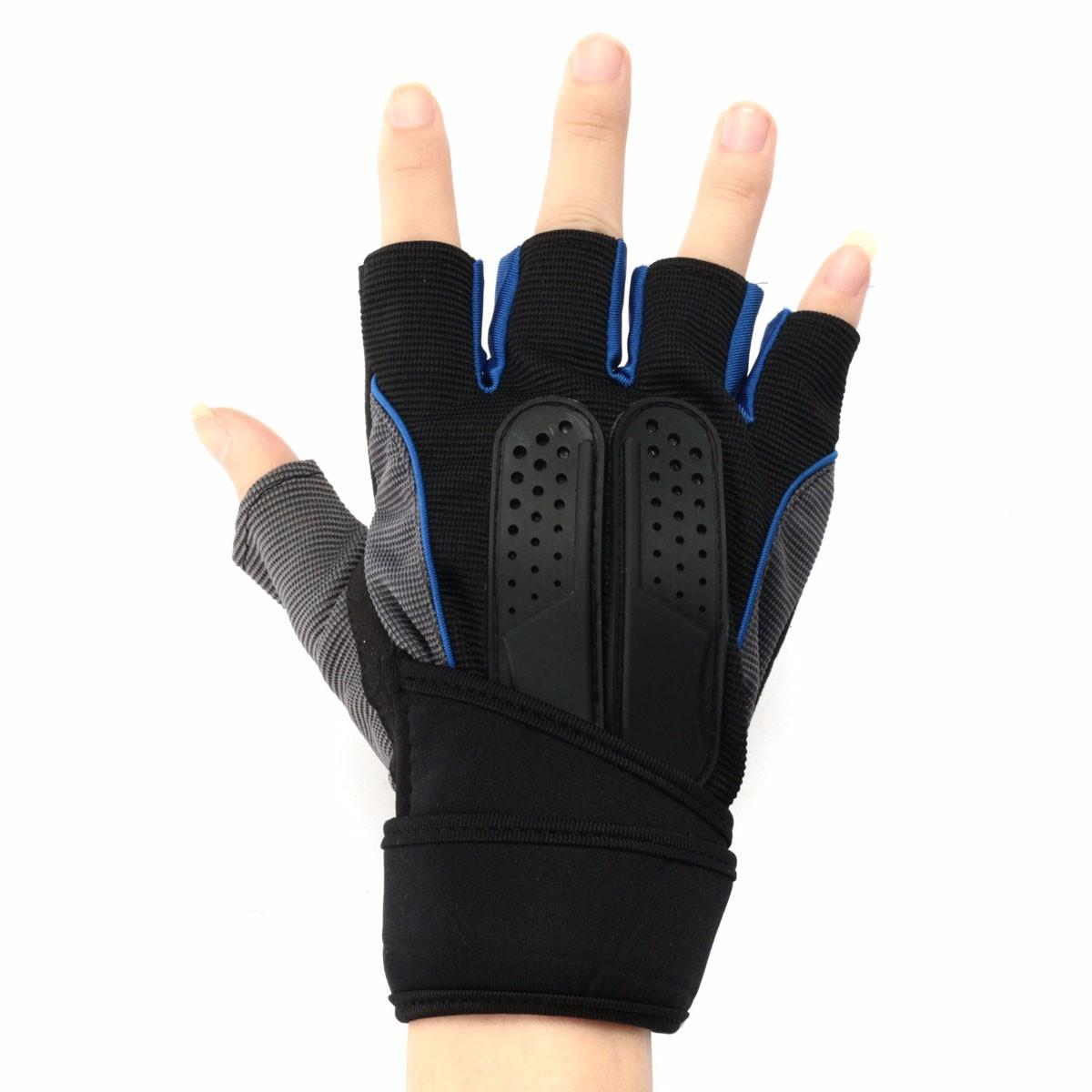 M Size Lifting Fitness Outdoor Sports Working Half Finger Gloves Motorcycle Bicycle Cycling