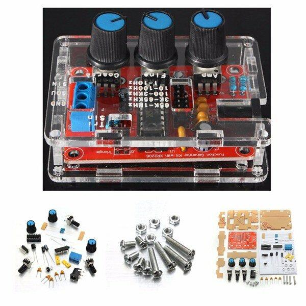 Geekcreit® XR2206 Function Signal Generator DIY Kit Sine Triangle Square Output 1HZ-1MHZ